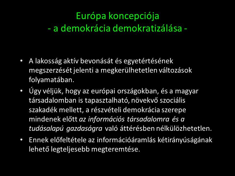 Európa koncepciója - a demokrácia demokratizálása -