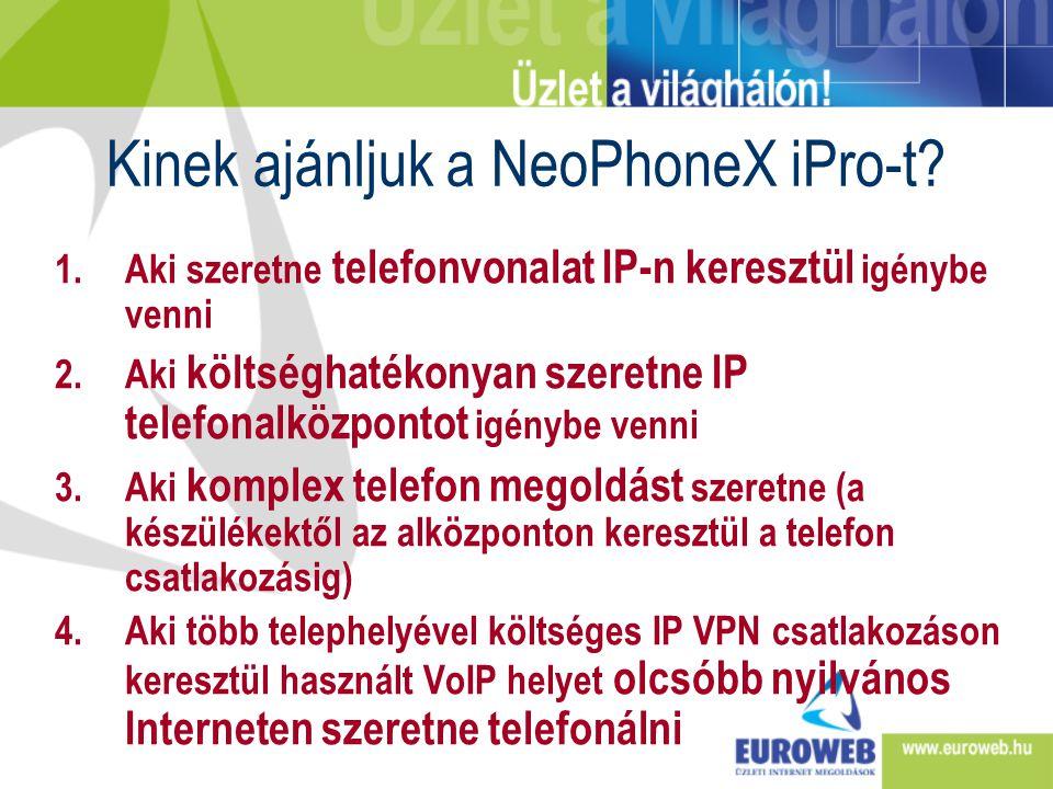 Kinek ajánljuk a NeoPhoneX iPro-t