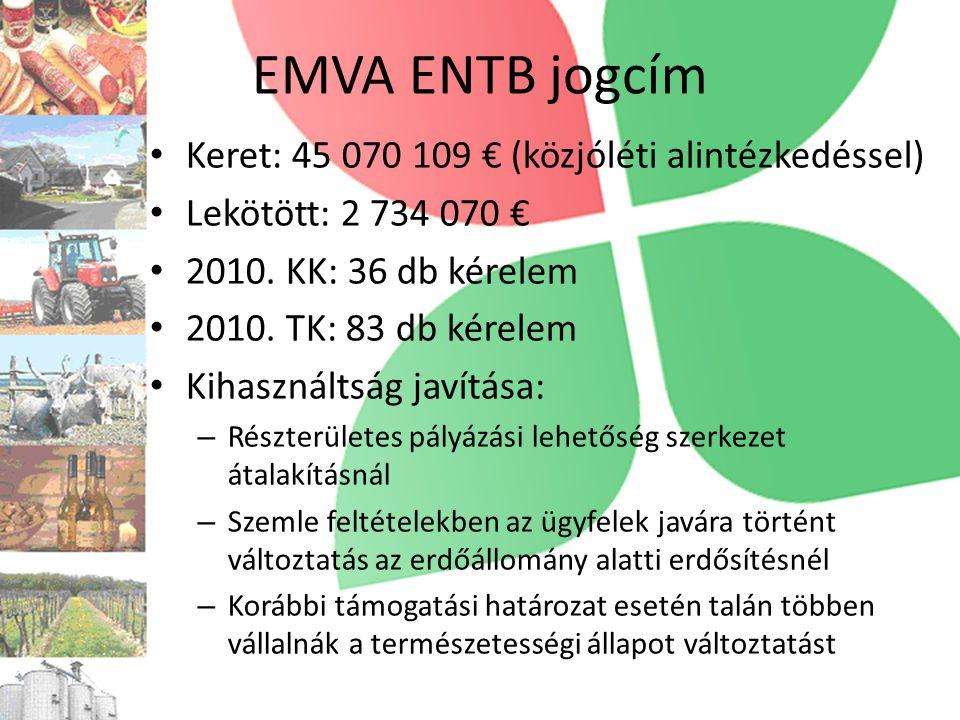 EMVA ENTB jogcím Keret: 45 070 109 € (közjóléti alintézkedéssel)