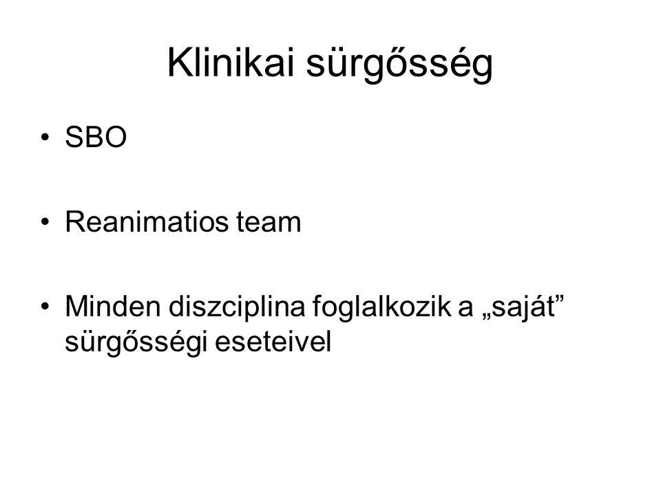Klinikai sürgősség SBO Reanimatios team