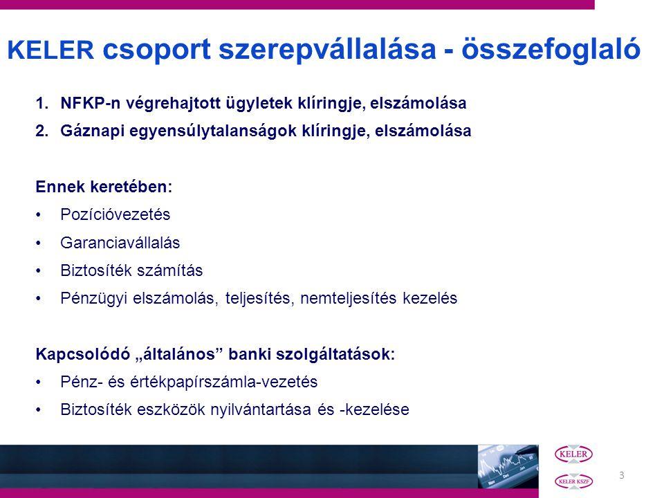 KELER csoport szerepvállalása - összefoglaló
