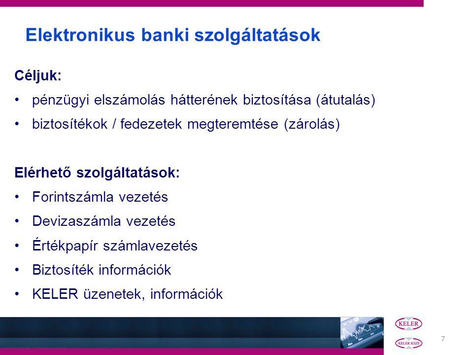 Elektronikus banki szolgáltatások
