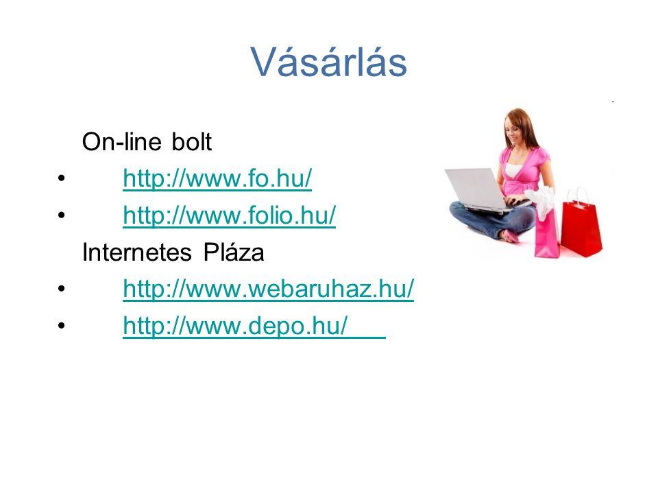 Vásárlás On-line bolt http://www.fo.hu/ http://www.folio.hu/
