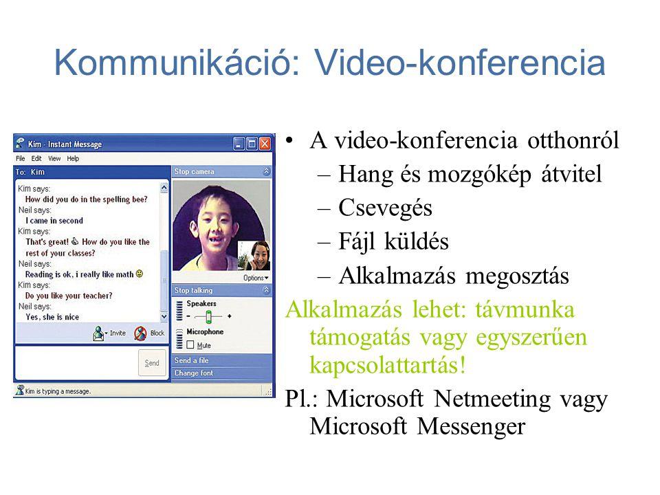 Kommunikáció: Video-konferencia