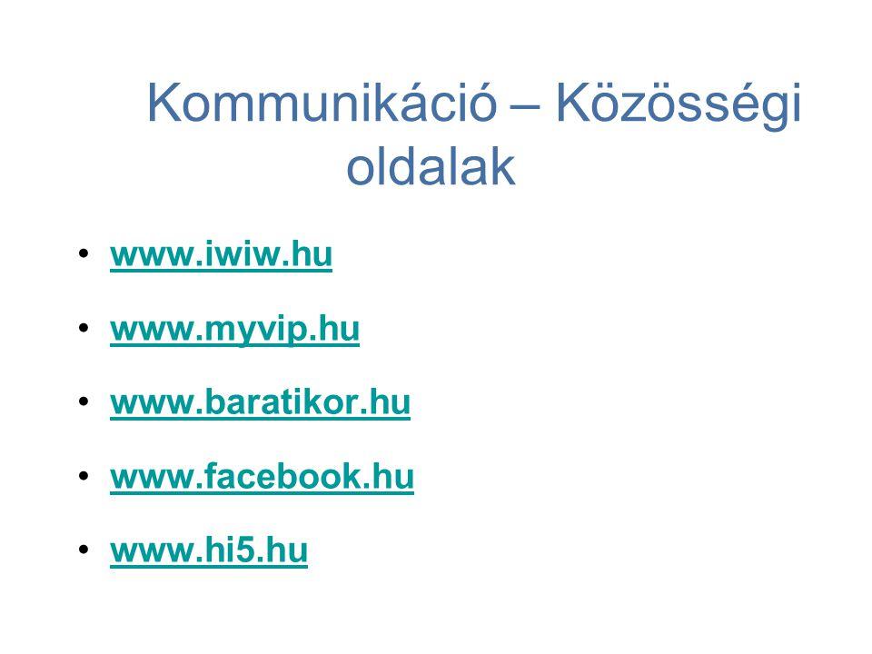 Kommunikáció – Közösségi oldalak