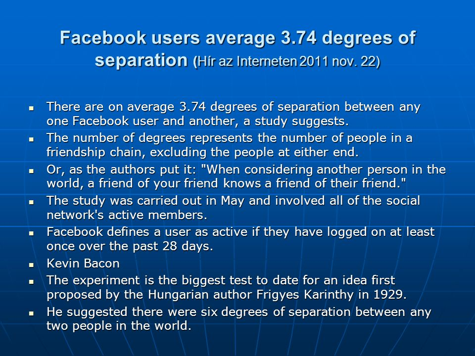 Facebook users average 3