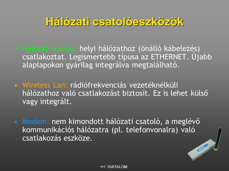 Hálózati csatolóeszközök