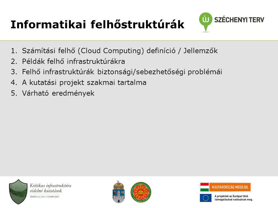 Informatikai felhőstruktúrák