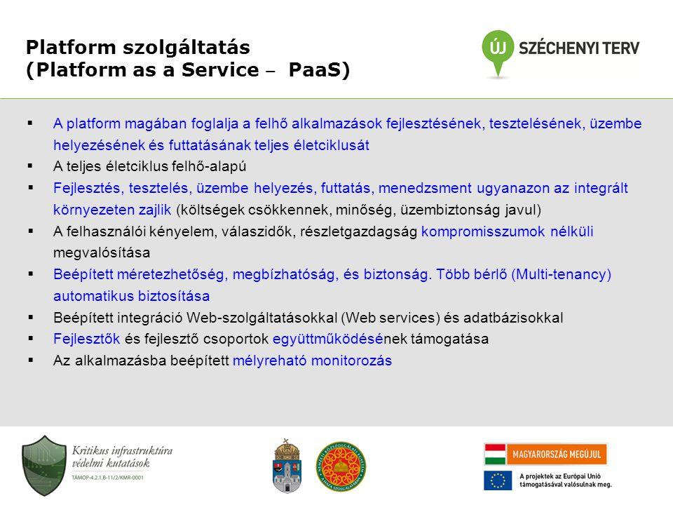 Platform szolgáltatás (Platform as a Service ‒ PaaS)
