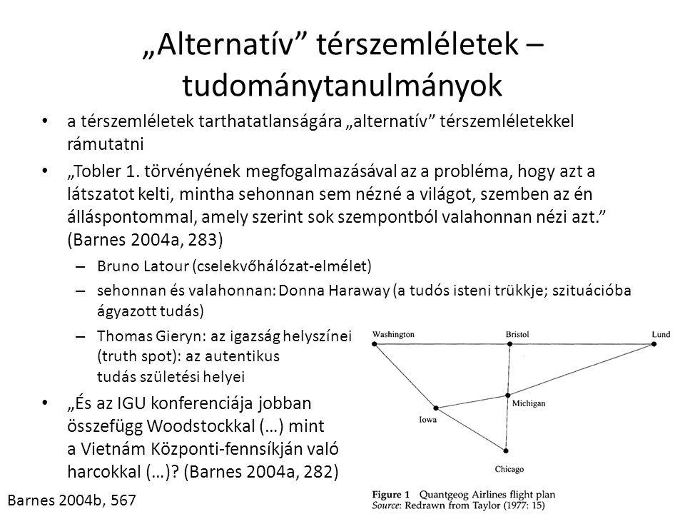 """""""Alternatív térszemléletek – tudománytanulmányok"""