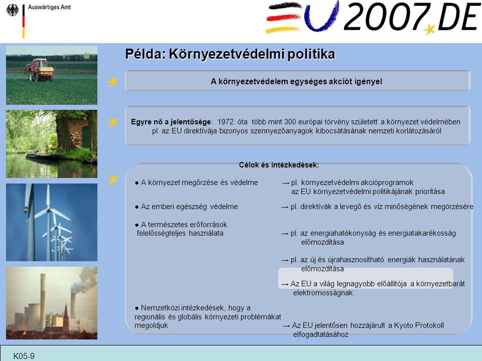 Példa: Környezetvédelmi politika