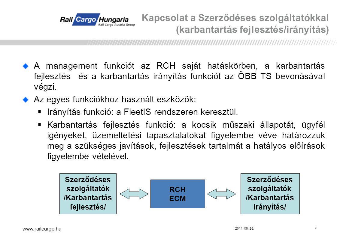 Kapcsolat a Szerződéses szolgáltatókkal (karbantartás fejlesztés/irányítás)