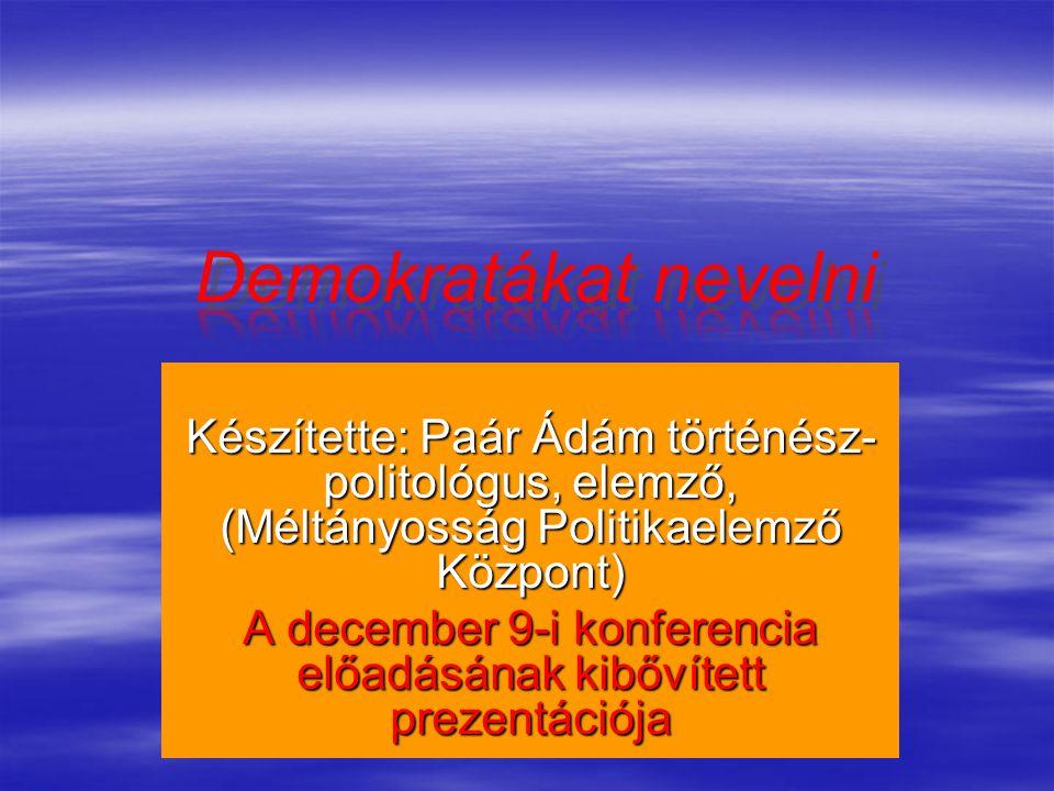 A december 9-i konferencia előadásának kibővített prezentációja