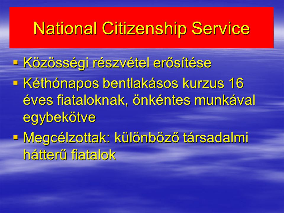 National Citizenship Service