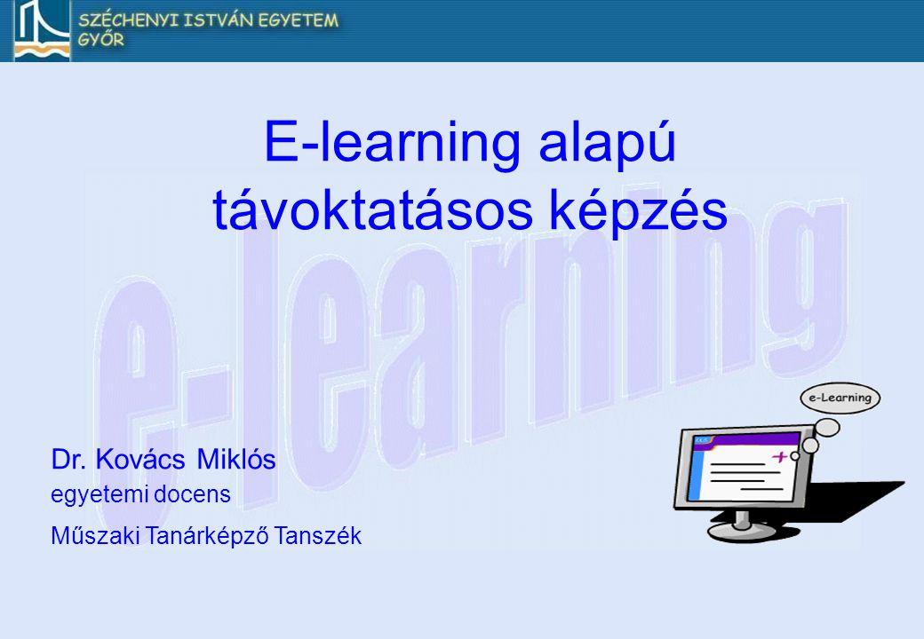 E-learning alapú távoktatásos képzés