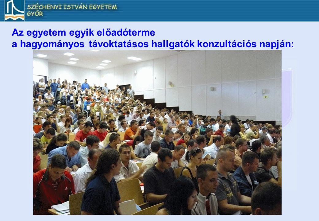 Az egyetem egyik előadóterme