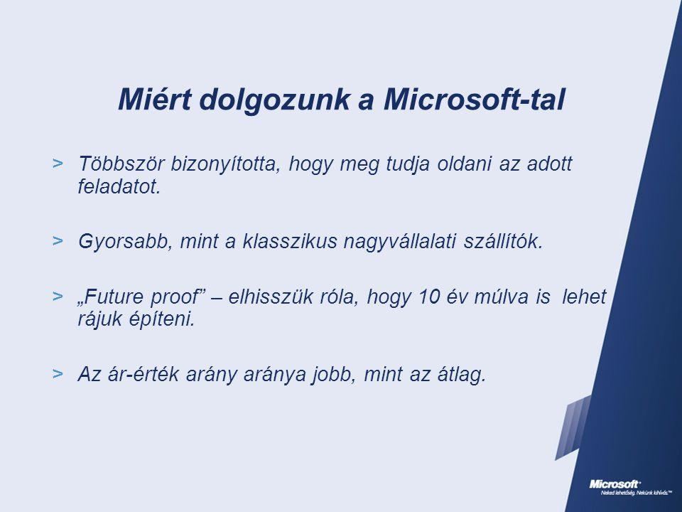 Miért dolgozunk a Microsoft-tal