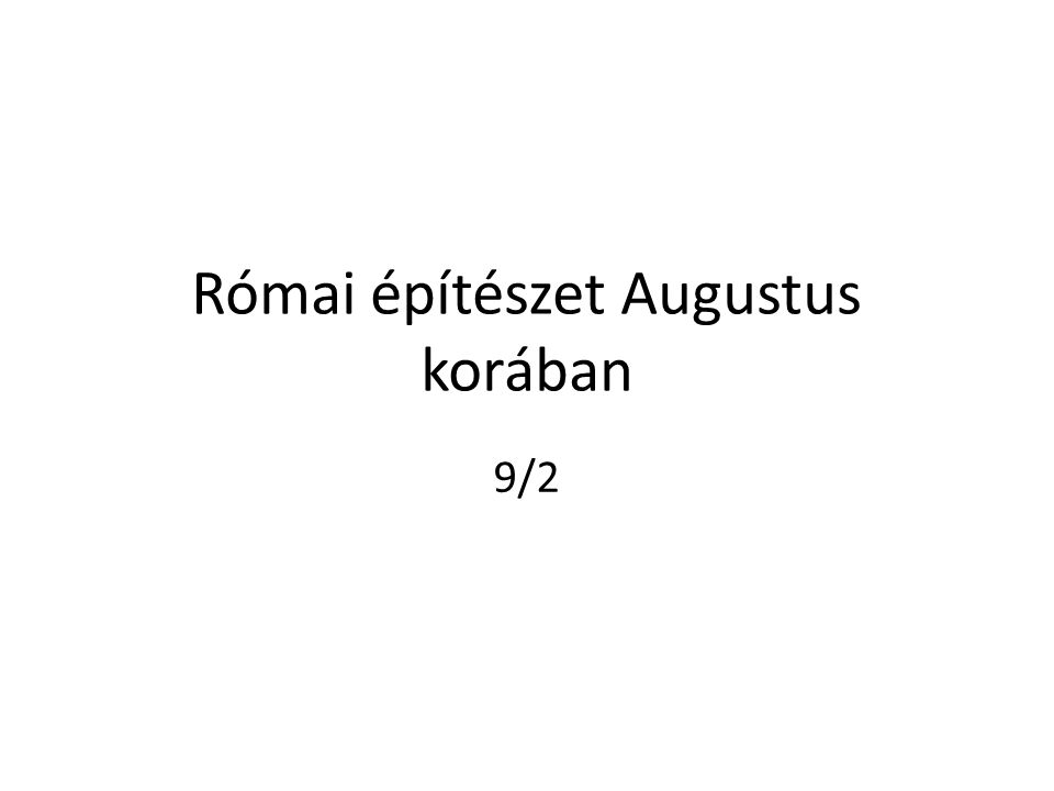 Római építészet Augustus korában