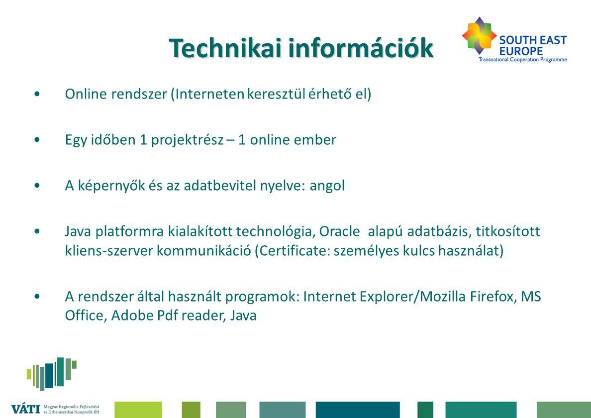Technikai információk
