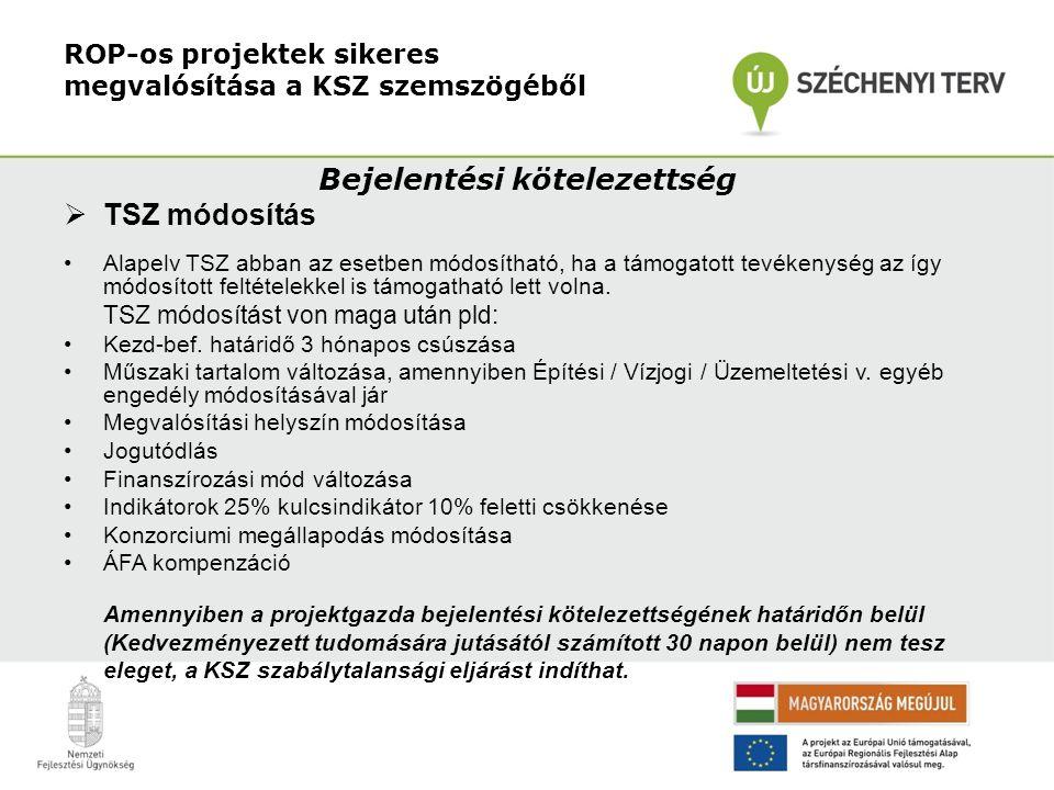 ROP-os projektek sikeres megvalósítása a KSZ szemszögéből