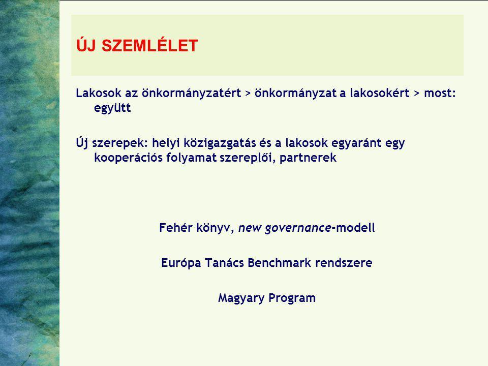Fehér könyv, new governance-modell Európa Tanács Benchmark rendszere