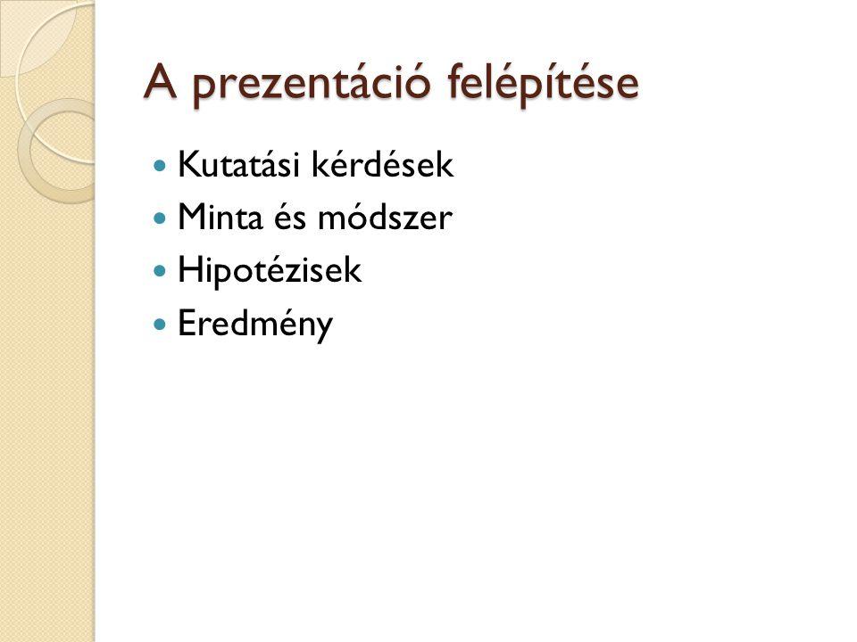 A prezentáció felépítése