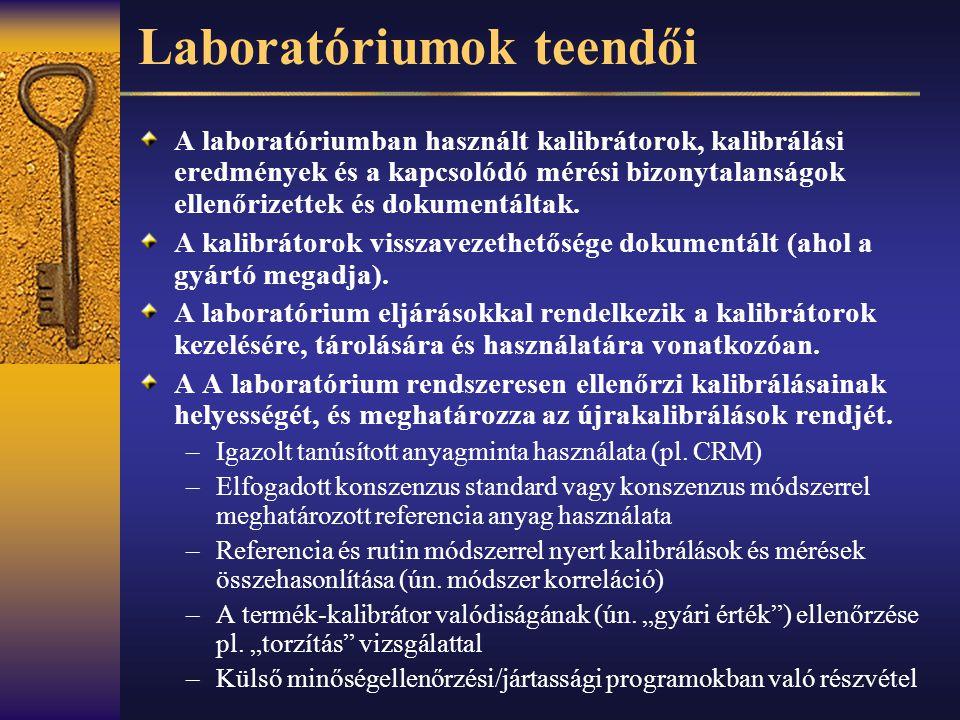 Laboratóriumok teendői