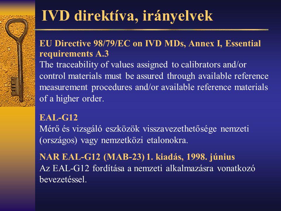 IVD direktíva, irányelvek