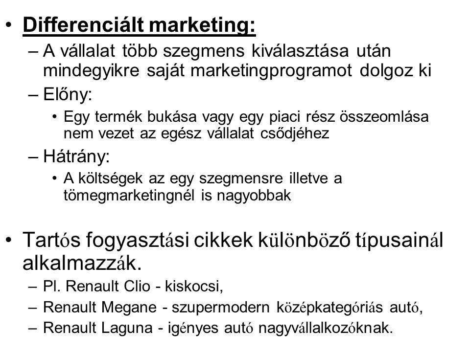 Differenciált marketing: