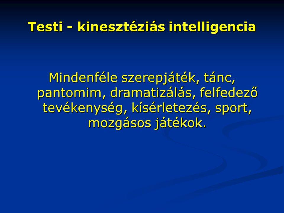 Testi - kinesztéziás intelligencia