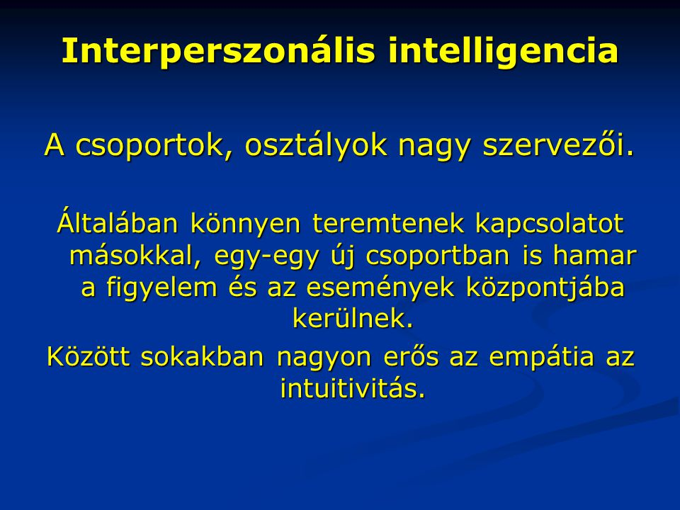 Interperszonális intelligencia