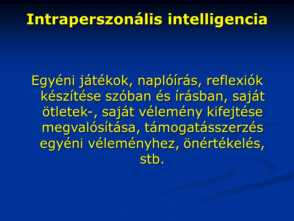 Intraperszonális intelligencia