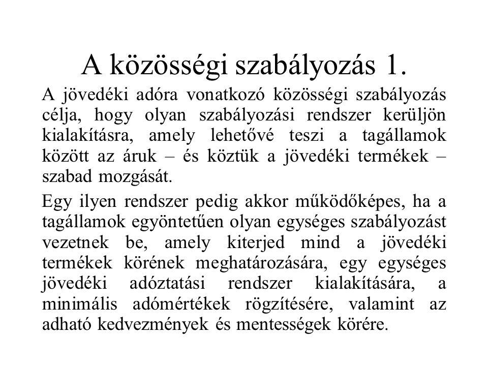 A közösségi szabályozás 1.