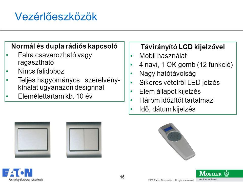 Távirányító LCD kijelzővel