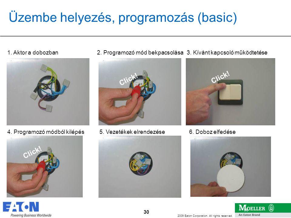 Üzembe helyezés, programozás (basic)