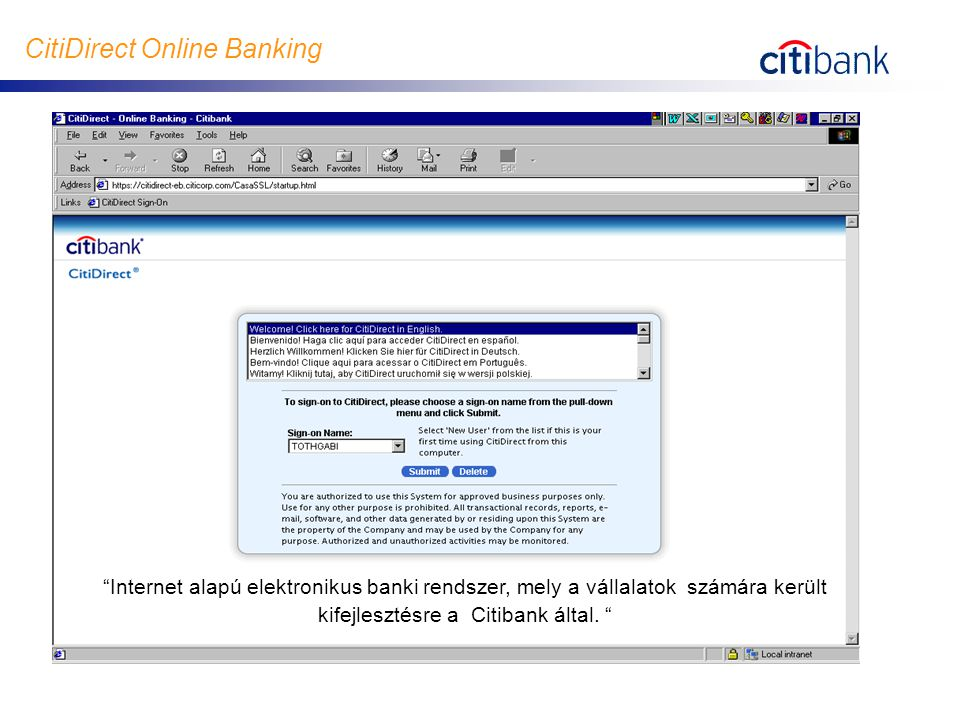CitiDirect Online Banking