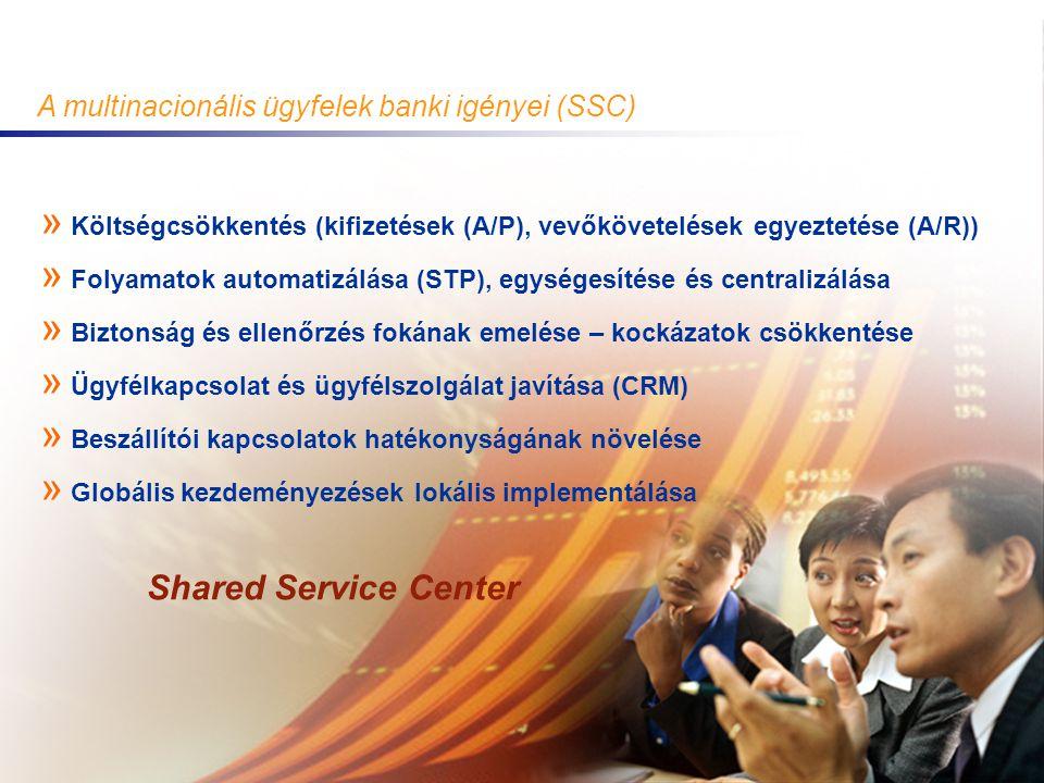 Shared Service Center A multinacionális ügyfelek banki igényei (SSC)