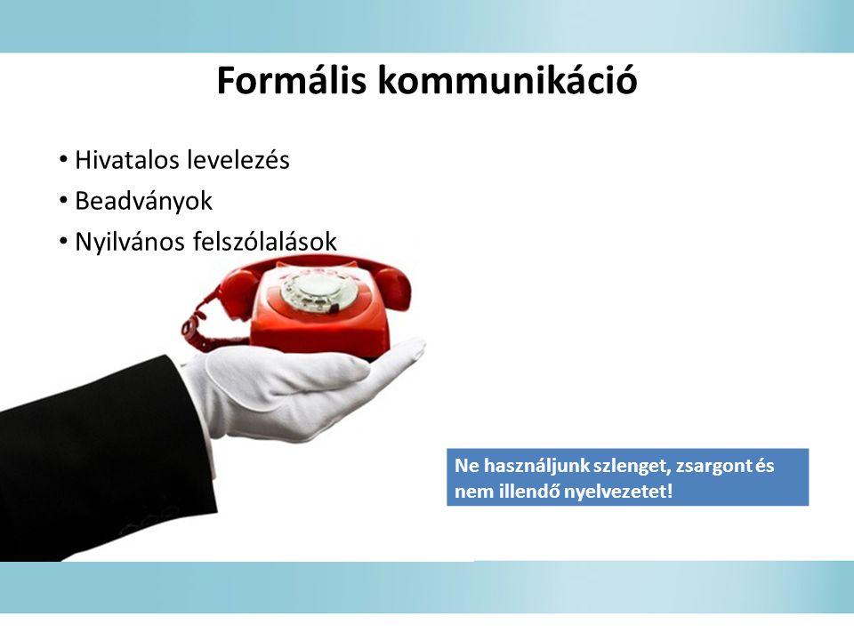 Formális kommunikáció
