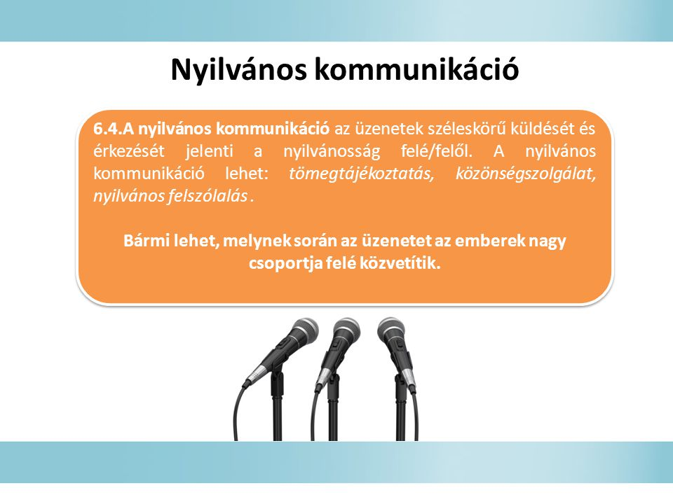 Nyilvános kommunikáció