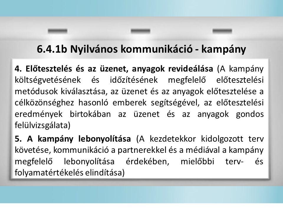 6.4.1b Nyilvános kommunikáció - kampány