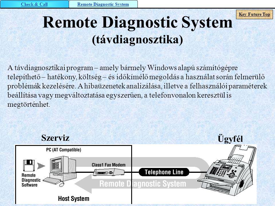 Remote Diagnostic System (távdiagnosztika)
