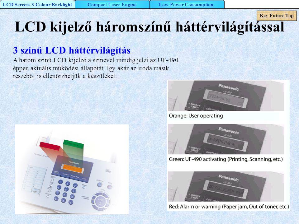 LCD kijelző háromszínű háttérvilágítással