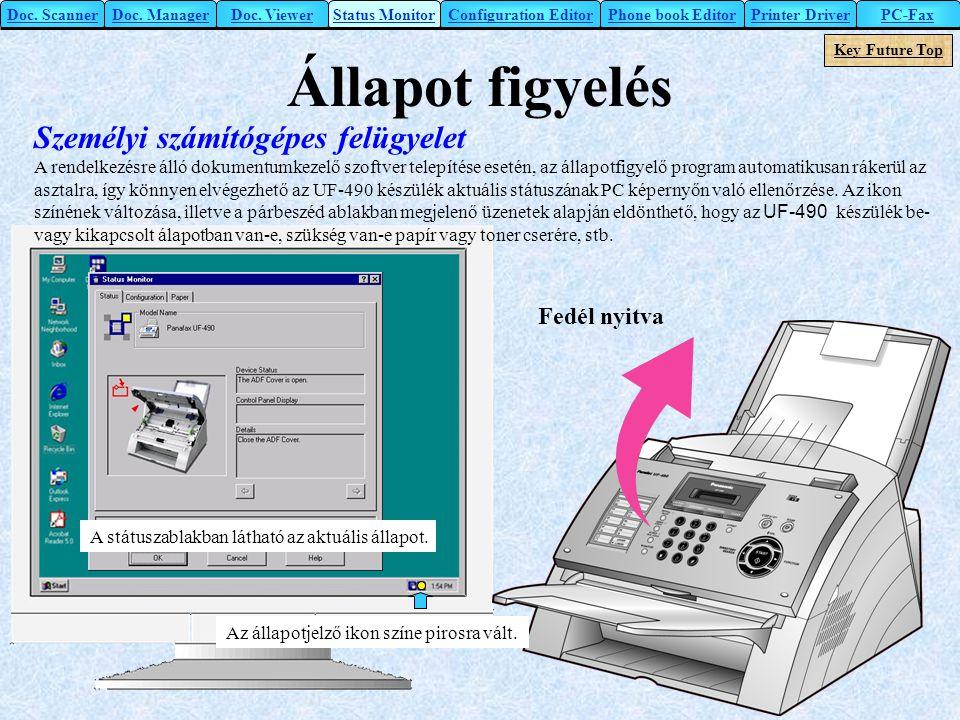 Állapot figyelés Személyi számítógépes felügyelet Fedél nyitva
