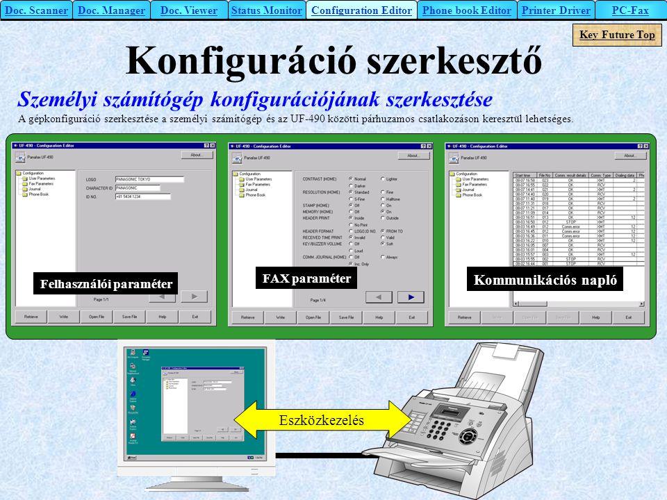 Konfiguráció szerkesztő
