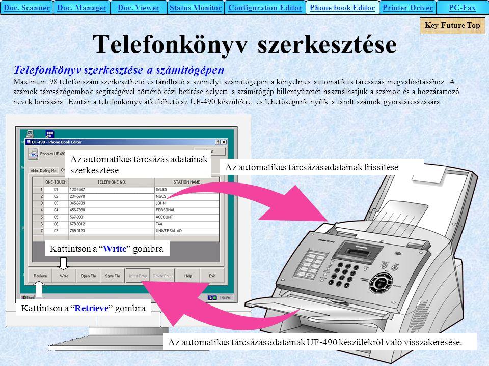 Telefonkönyv szerkesztése