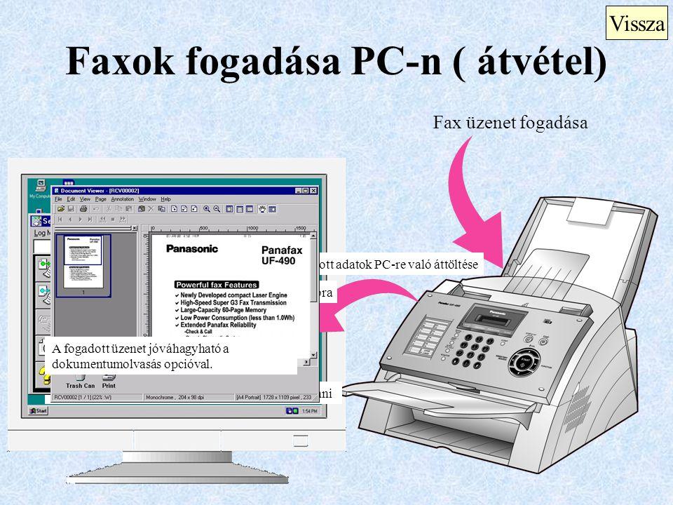 Faxok fogadása PC-n ( átvétel)