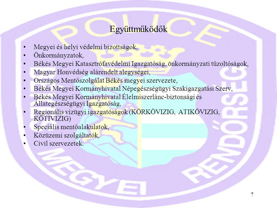 Együttműködők Megyei és helyi védelmi bizottságok, Önkormányzatok,