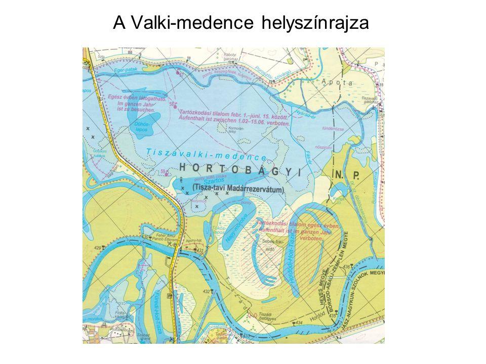A Valki-medence helyszínrajza