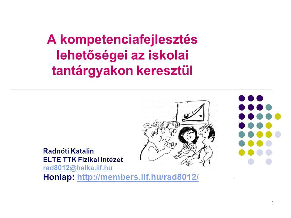 A kompetenciafejlesztés lehetőségei az iskolai tantárgyakon keresztül