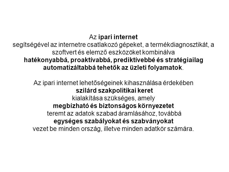 Az ipari internet lehetőségeinek kihasználása érdekében